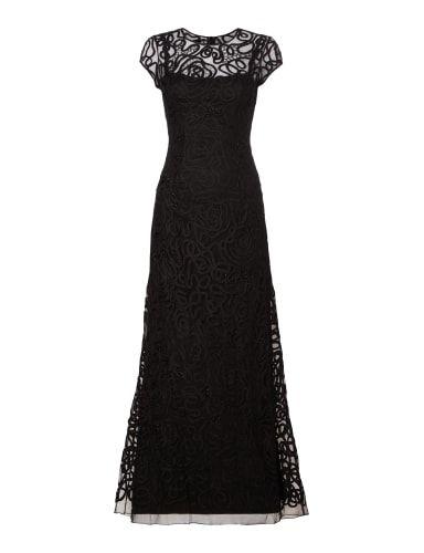 Niente Abendkleid Mit Zierperlenbesatz In Grau Schwarz Online Kaufen 9558916 P C Online Shop Abendkleid Schwarzes Kleid Kleider