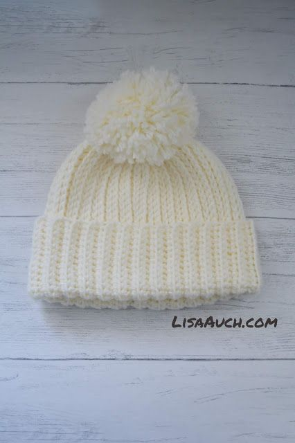 Looks like Knit But its Crochet Warm Cosy Winter Hat (FREE Pattern)