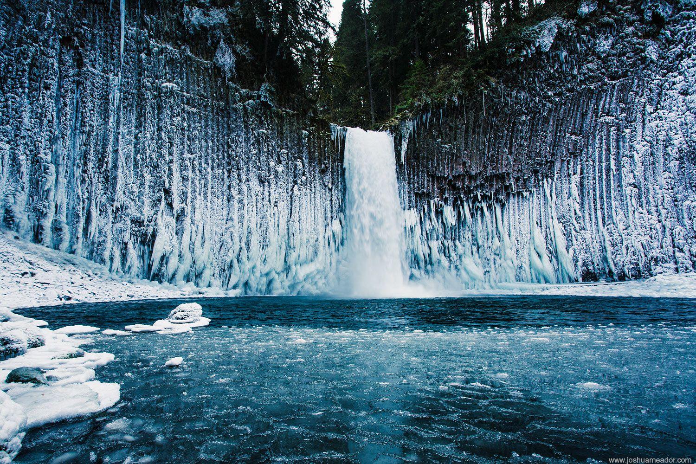Ice Falls Oregon WA