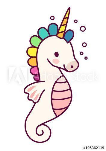 Photo of Cute unicorn with purple mane simple cartoon vector illustration. Simple flac …