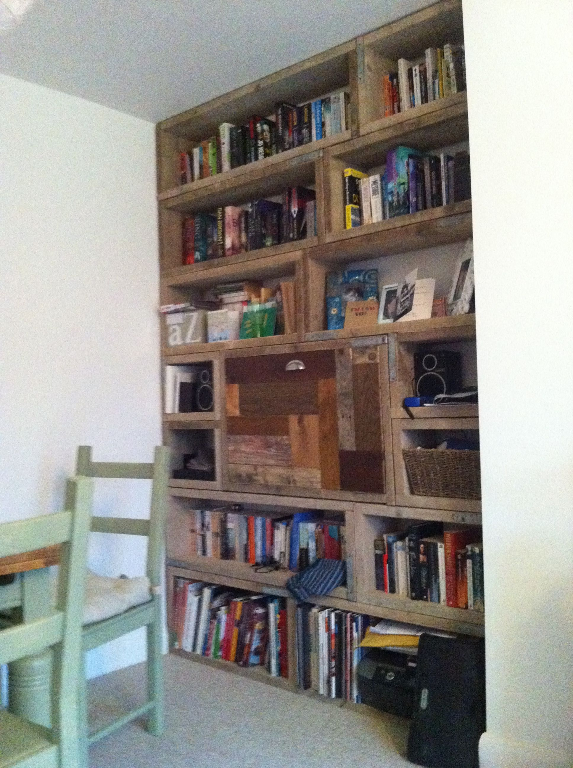 Scaffold Board Bookcase Diy Shelves Pinterest