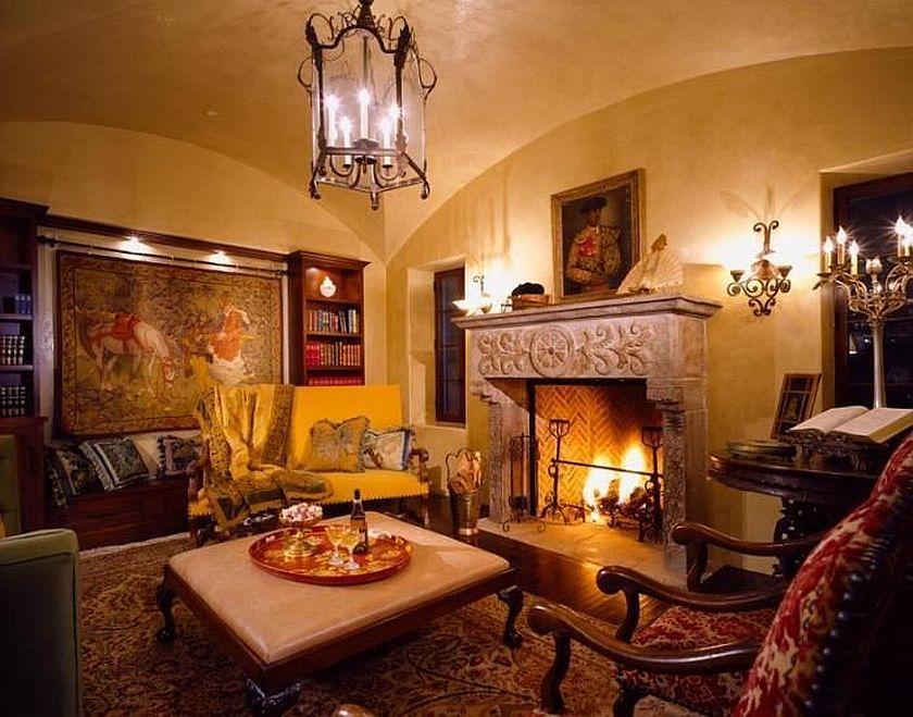 Spanish Colonial Revival Living Room Spanish Colonial Homes Spanish Interior Colonial Style Homes #spanish #colonial #living #room
