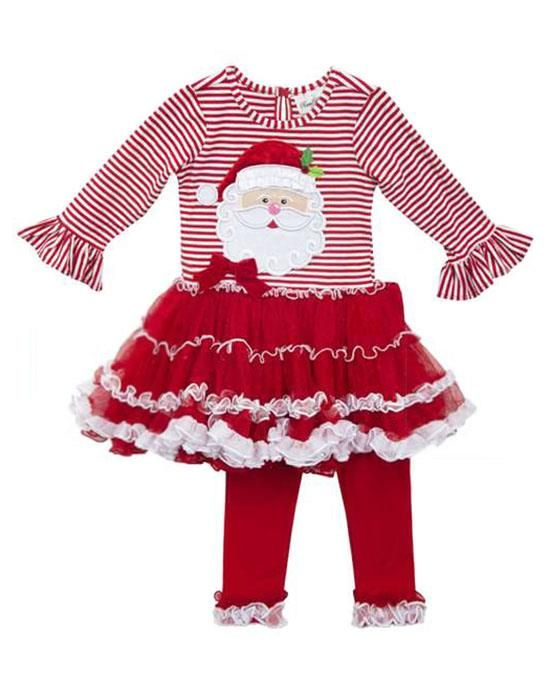 Perfect for Christmas!! Rare Editions Red White SANTA Tutu Dress ...