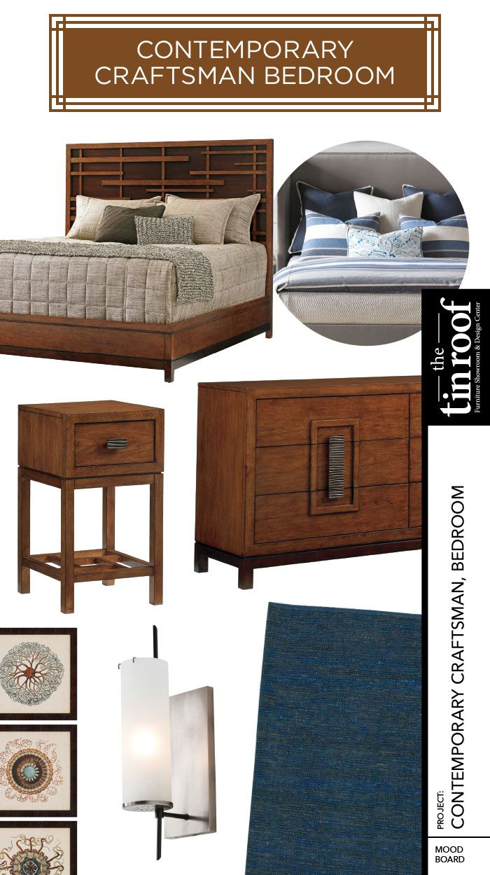 Contemporary Craftsman Bedroom Style Featuring Tommy Bahama Home