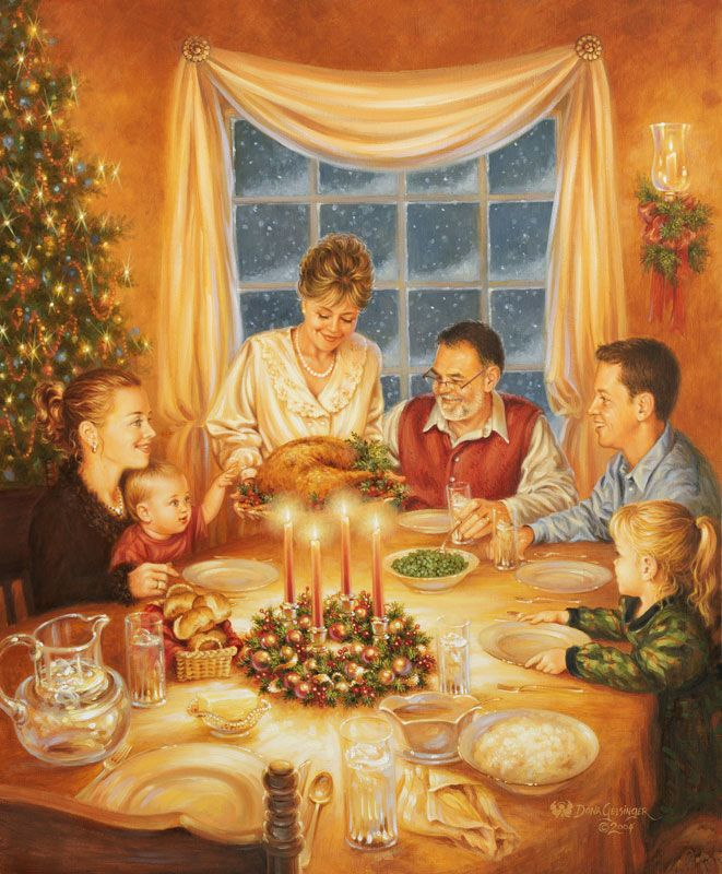 """Christmas Dinner"" by Dona Gelsinger ~ Christmas Classics"