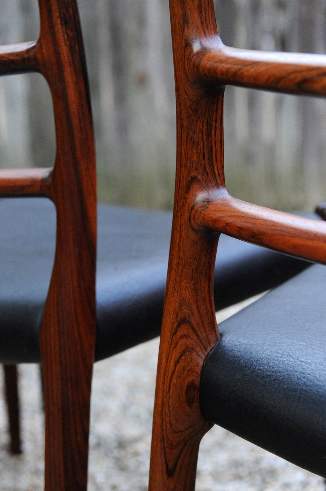 Niels O Moller Set Of Eight Rosewood Ladder Back Dining Chairs