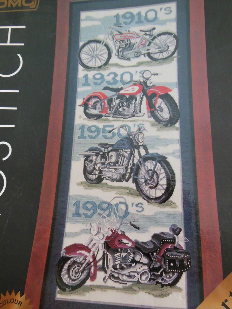 DMC LONGSTITCH/TAPESTRY KIT - MOTORCYCLES.