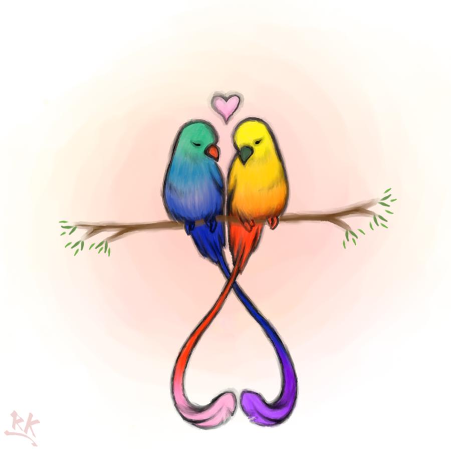 Love Birds By Raunikai Deviantart Com On Deviantart Monagrams