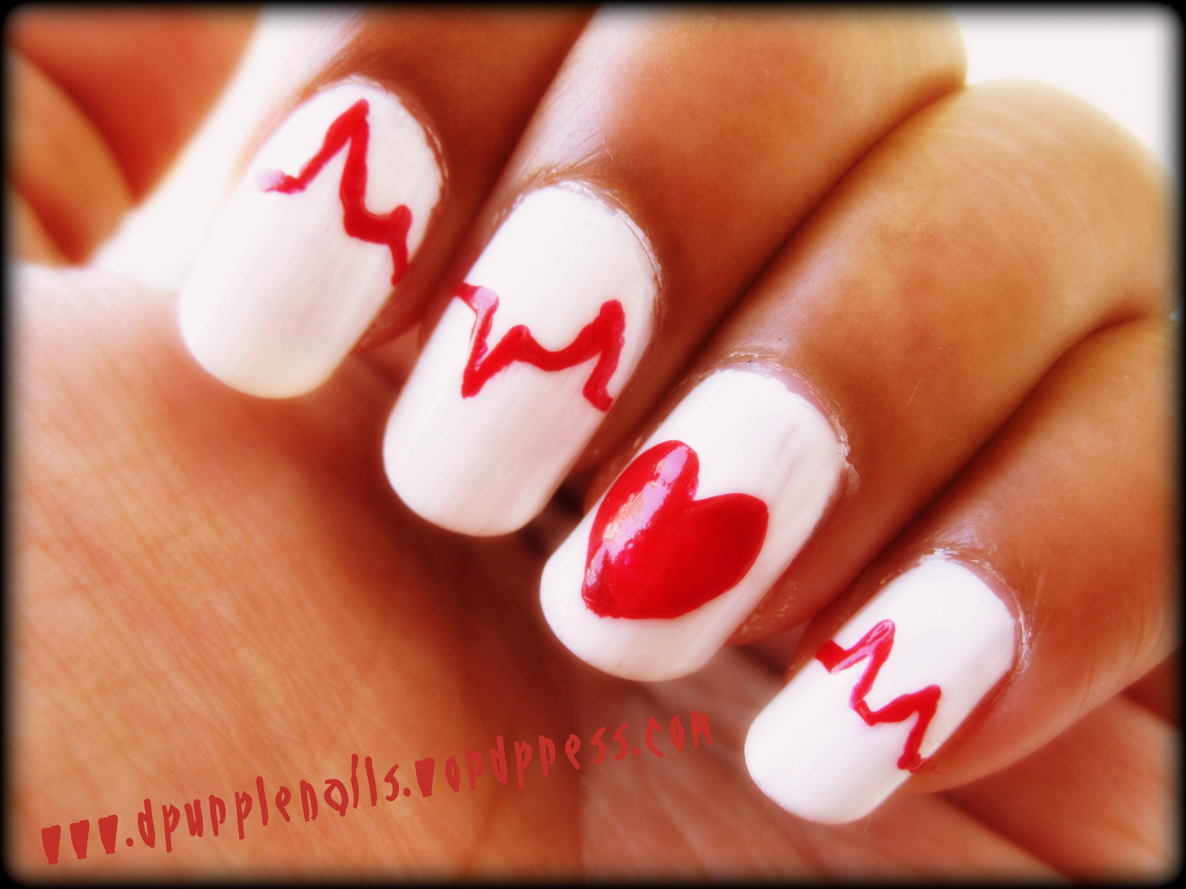 CUTE AND EASY NAIL ART   Nail Art Designs   nail art   Pinterest