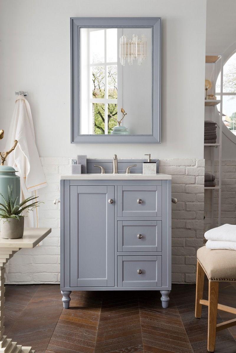 Copper Cove Encore 30 Single Sink Bathroom Vanity Cabinet Silver Gray Finish Matching M Bathroom Vanity Single Bathroom Vanity Single Sink Bathroom Vanity