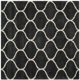 Photo of Safavieh Hudson Shag Antigoni Moroccan Rug (7′ x 7′ Square – Dark Grey/Ivory), Dark Gray/Ivory