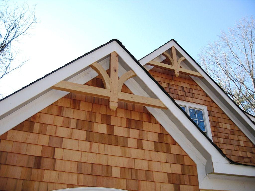 Gable Bracket Instaled1 House Exterior Gable Roof Design Gable Brackets