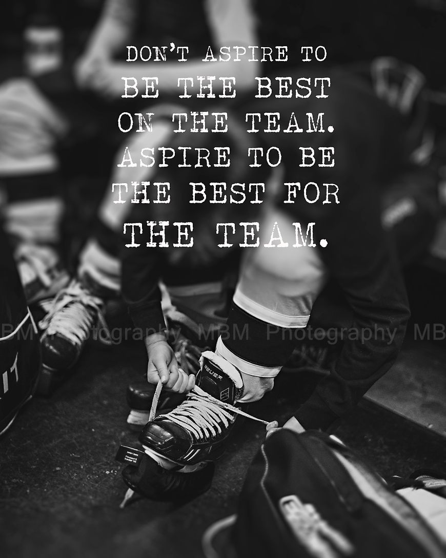 Famous Hockey Quotes Team Player  Hockey Print  Hockey  Pinterest  Team Player