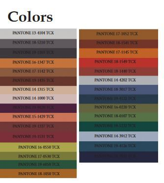 Overview of pantone color forecast for Fall Winter 2018 ...