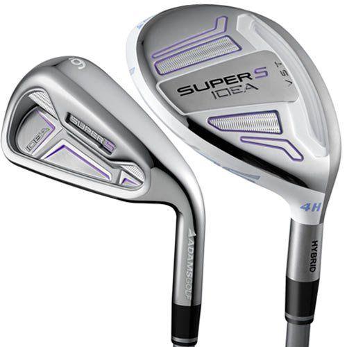 Adams Golf Women S Idea Super S Iron Set 4h 5h 6 Sw Left Hand Golf Clubs Ladies Golf Clubs Golf Iron Sets