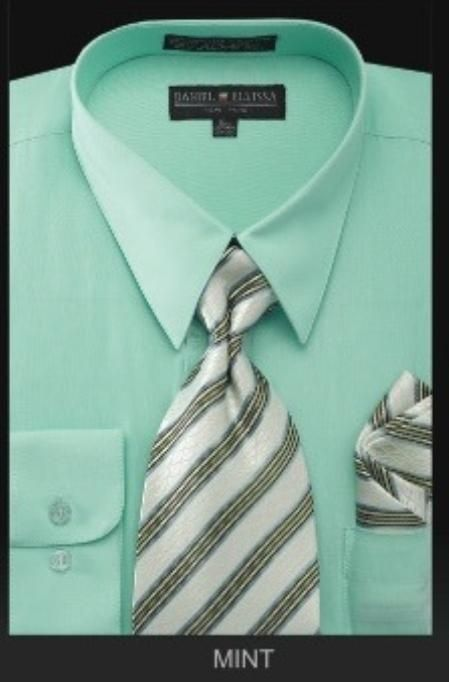 Green dress shirt what color tie with blue