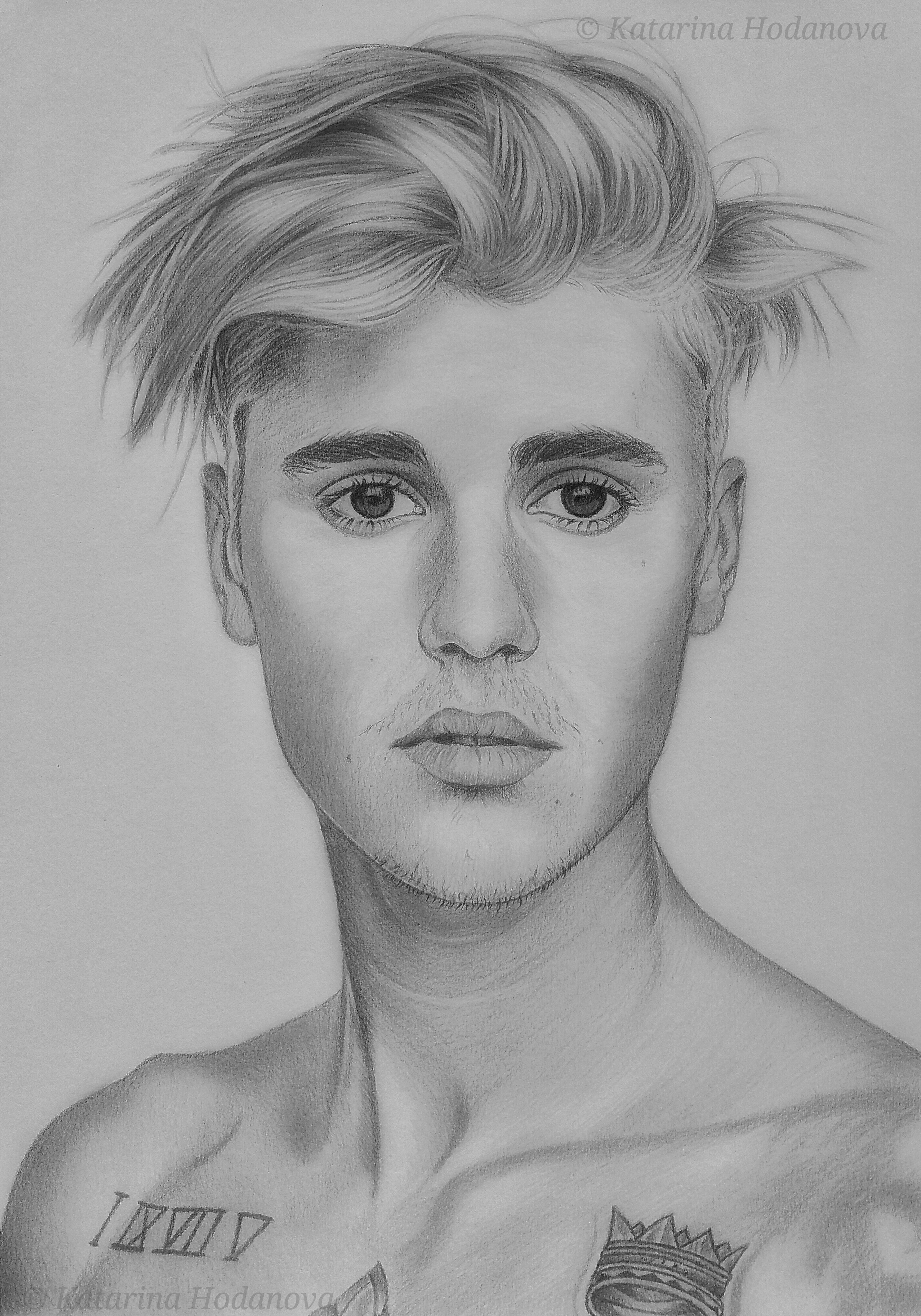 Justin bieber graphite pencil drawing size 297 x 42 cm canson paper