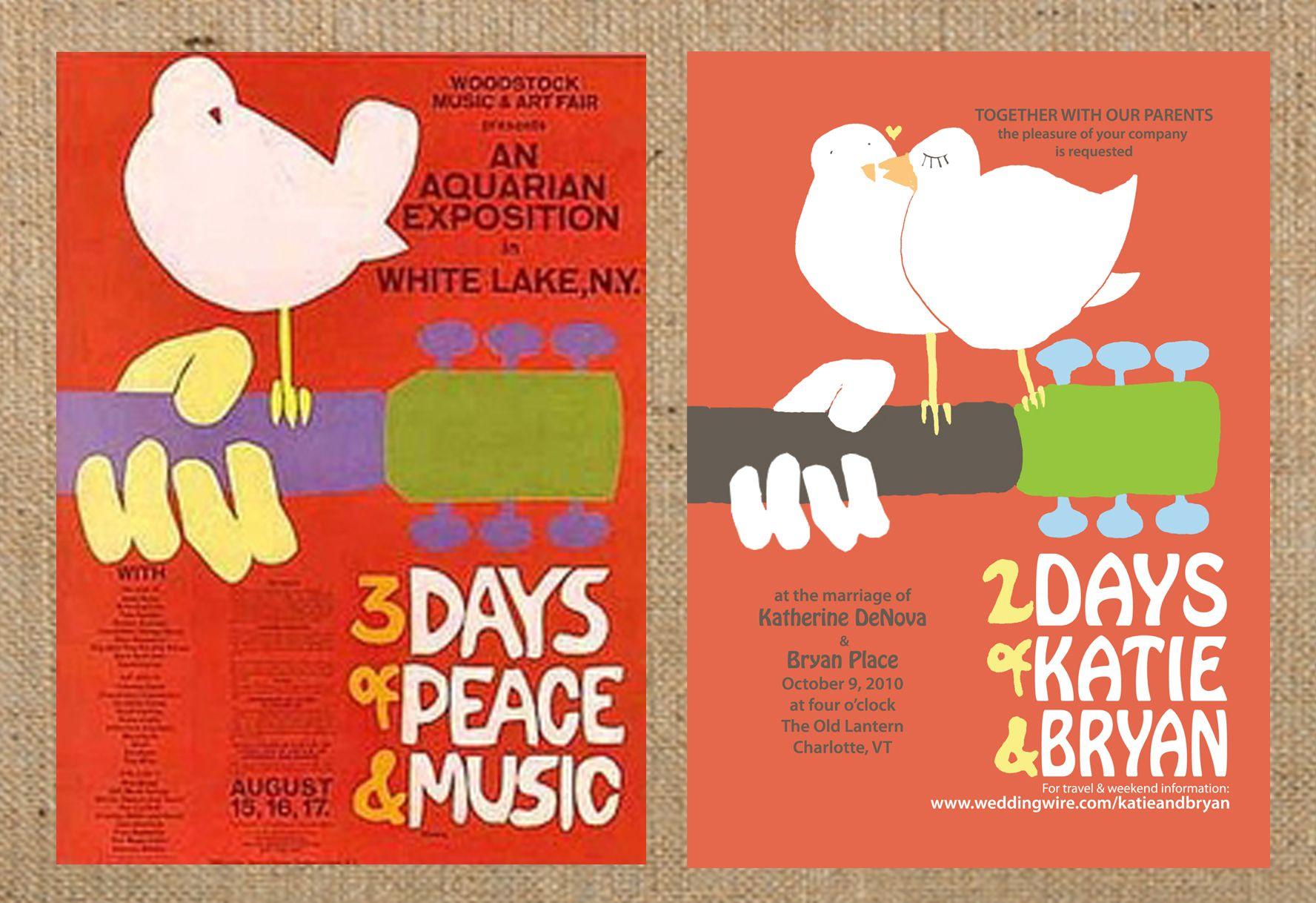 Woodstock Poster wedding invitations by Katie Fischer Design ...