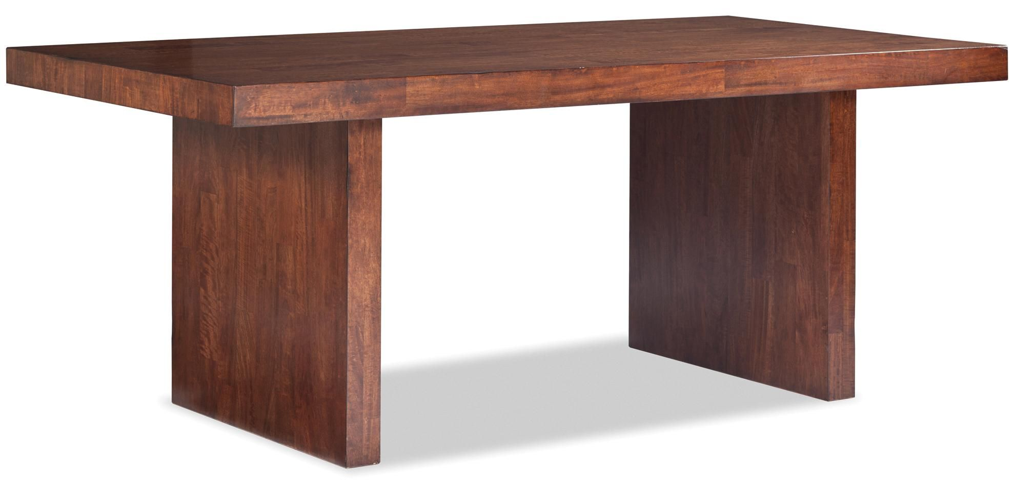 Rectangular Table With Double Pedestal Base In Cinnamon Finish