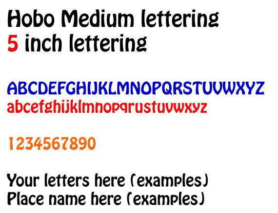 Inch HOBO Vinyl Lettering Name Decal Number Stickers Custom - Custom vinyl decals numbers