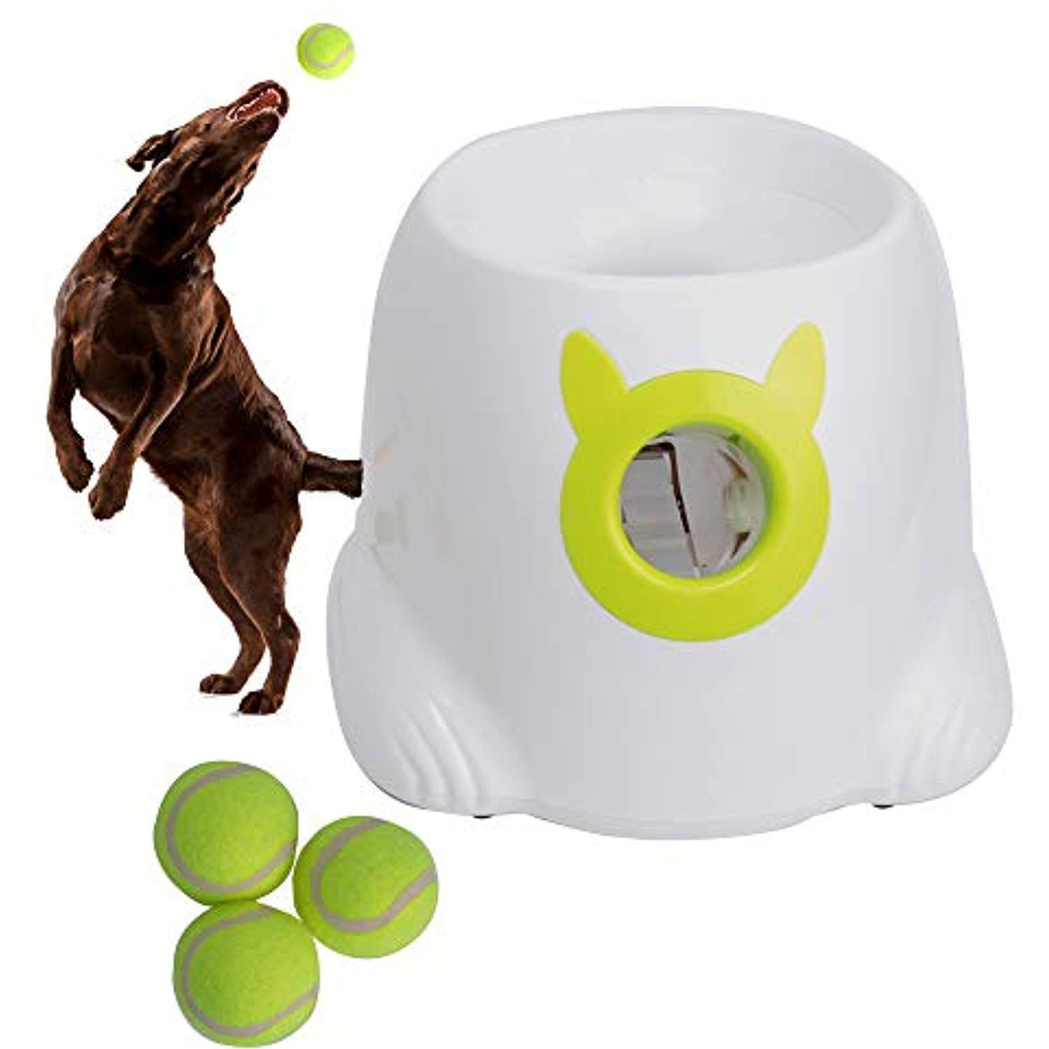 Automatic Dog Ball Launcher Thrower Interactive Throwing And Fetch