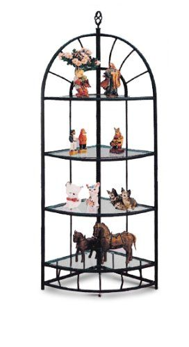Sunburst Design Wrought Iron Style 4 Tier Corner Stand Shelf Hurry Check Out This Great Product Shelves