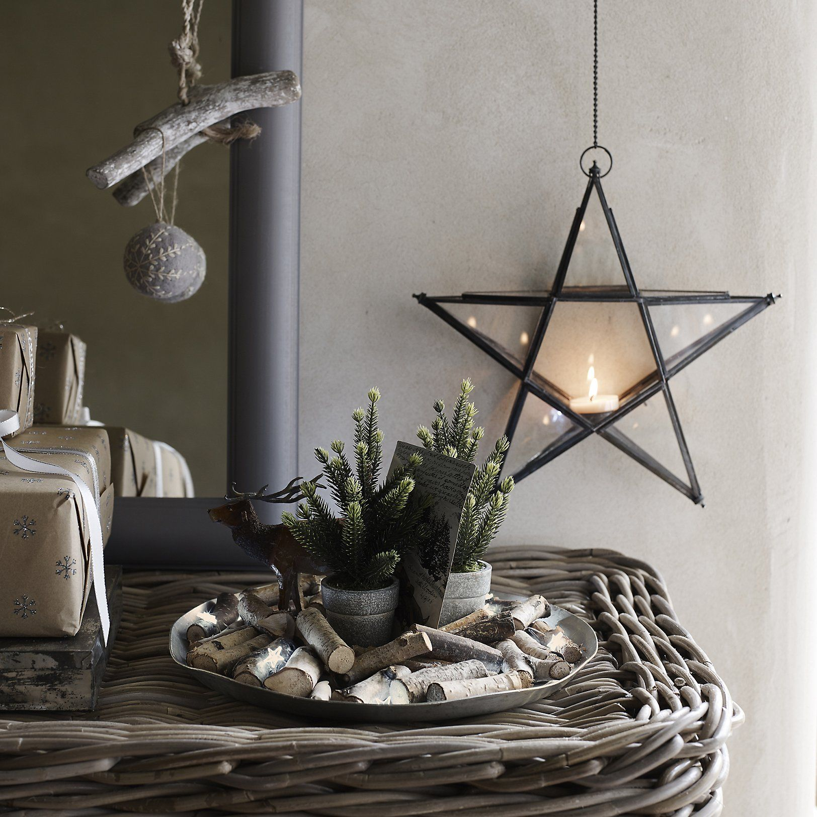 Rustic Christmas Decorations Hanging Star Tealight Christmas Room Decorations Christmas