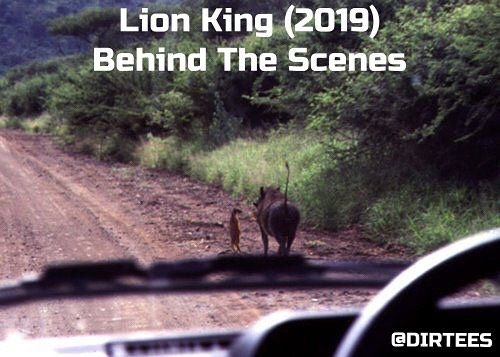 First Lion King 2019 Behind The Scenes Photo Timon And