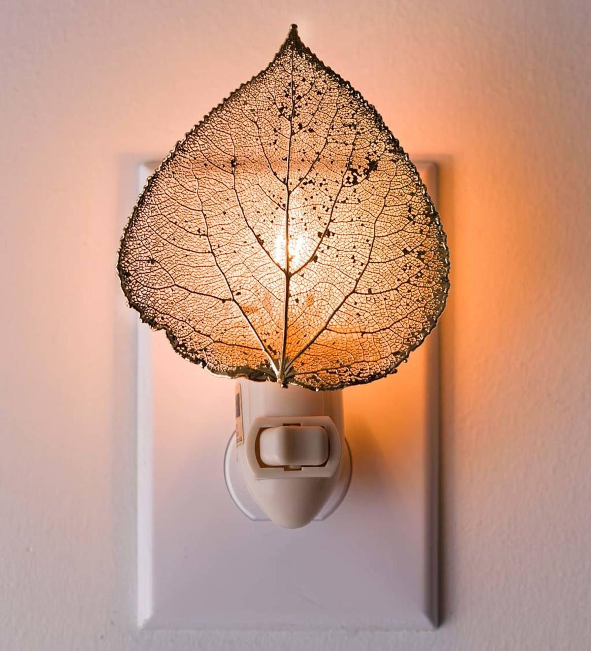 Null Night Light Night Light Lamp Aspen Leaf