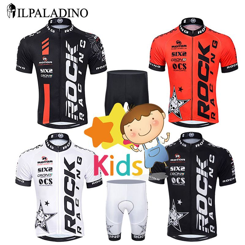 Ilpaladino Children Cycling Jersey Set Boys Bike Clothing Shorts Sets Kids Team Bicycle Ropa Ciclismo Breathable And Quick Dry De Cycling Jerseys Cycling Outfit Kids Cycle