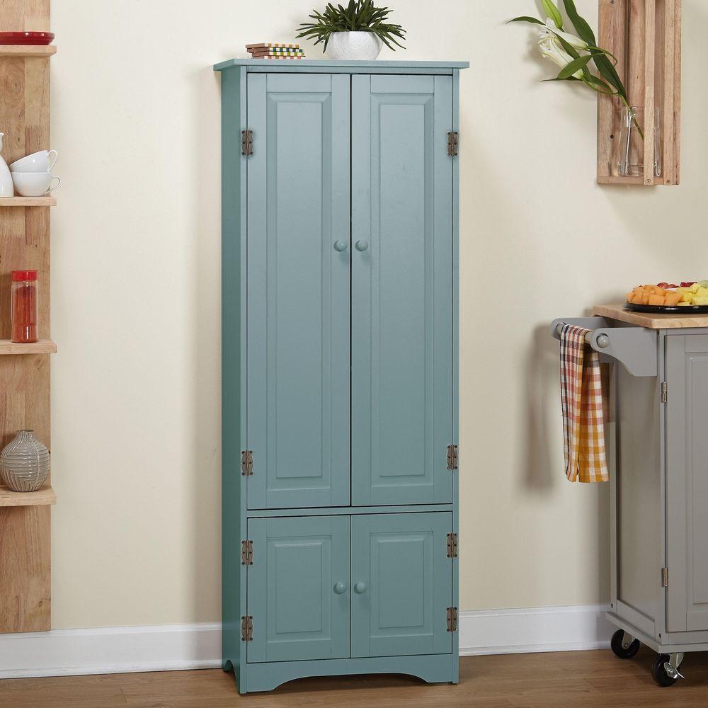 Kitchen Pantry Wood Extra Tall Cabinet Bathroom Organization Storage ...