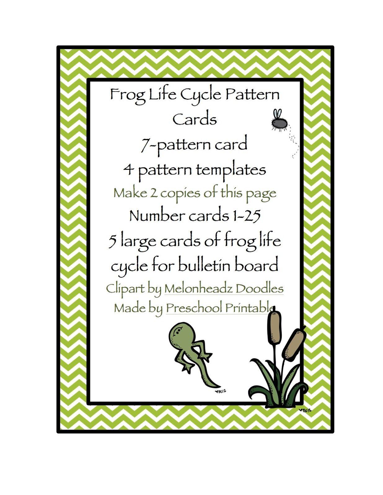 Preschool Printables Frog Life Cycle Pattern Amp Number