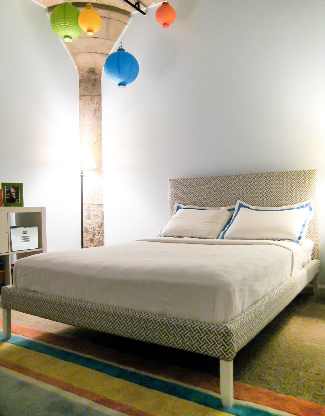 Diy Ikea Fjellse Hack How To Upholster A Bed Emmerson And