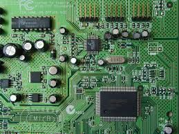a circuit built on a printed circuit board pcb an electronic rh pinterest com