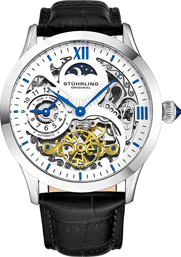 Stührling Original Mens Stainless Steel Automatic Watch