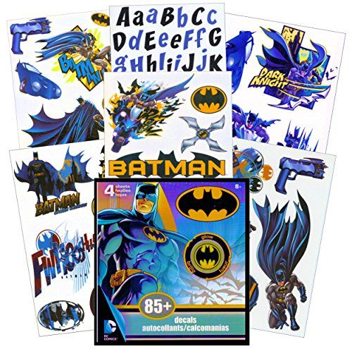 batman wall decals 85 removable wall stickers (glow in the dark