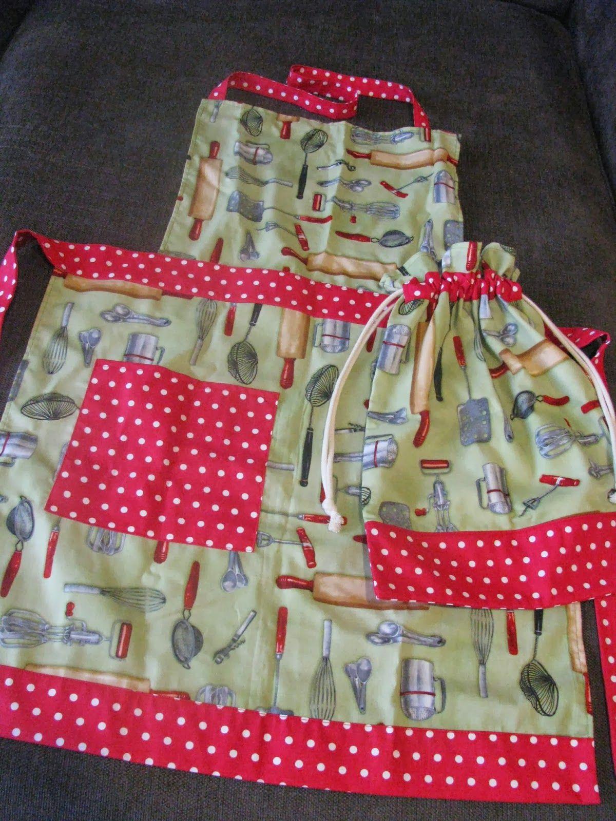 apron and bag