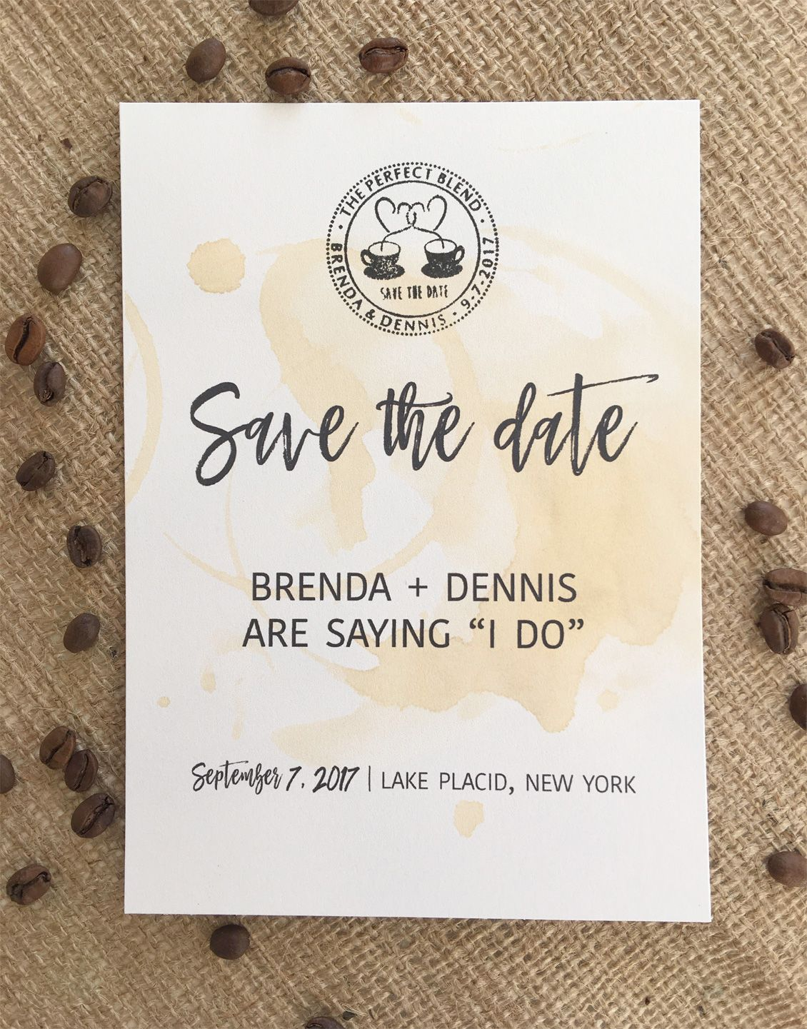 The Perfect Blend Save the Date Card Free Wedding