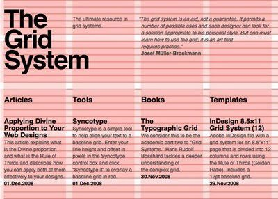 GRID STRUCTURES A graphic-design grid is a bit like magic