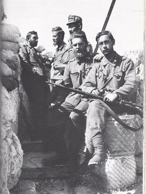 Austrian sniper platoon, World War I.