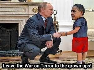 Putin Vs Baby Obama Putin Vs Barry Pinterest Obama Humor - Photo of obama and putin death stare sparks hilarious photoshop responses