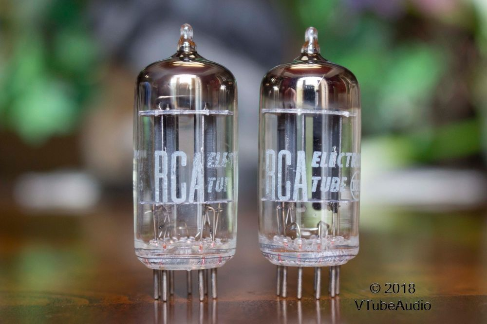 Rca 12au7 Ecc82 Black Plate 1956 Slant D Getter Matched Balanced Pair Tubes Rca Black Plates Absinthe Fountain Audiophile