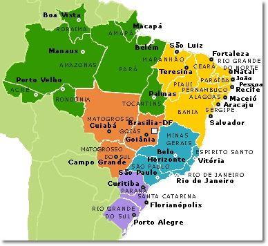 Brazilian Map Mapa Do Brasil Porto Alegre My Place 3 Estados E