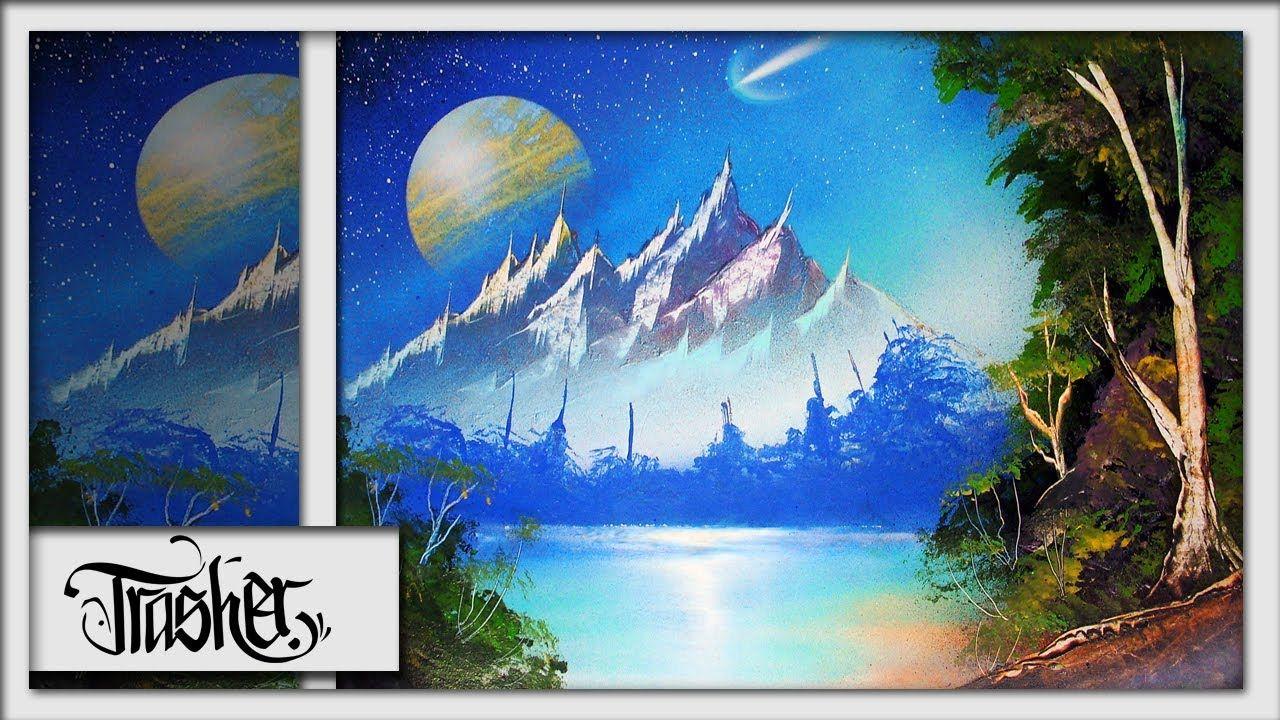 Spray Paint Art Advanced Nature Scene By Trasher Spray Paint Art Spray Paint Artwork Art