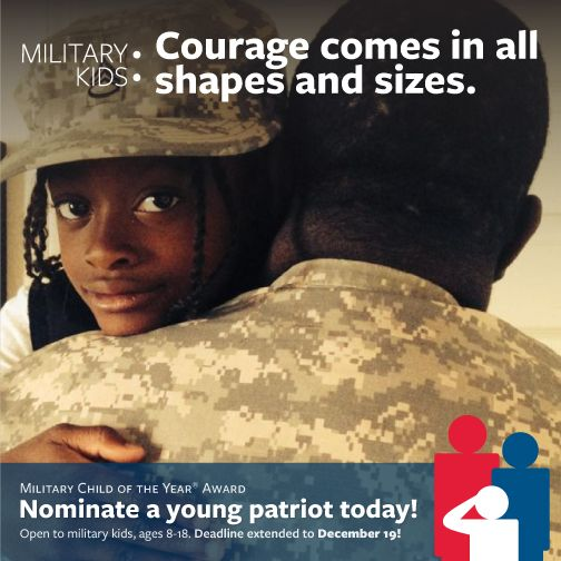 5cbeae02679 Today is the LAST DAY to nominate your favorite young patriot for our Military  Child of