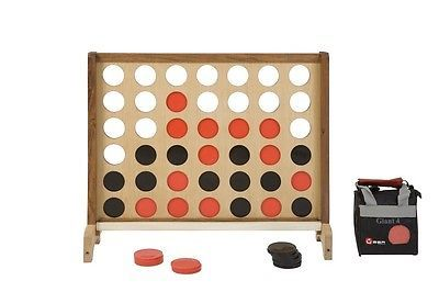 New Giant Wooden 4 Connect 4 in A Row Giant 4 Garden Game Outdoor Games BBQ Fun | eBay