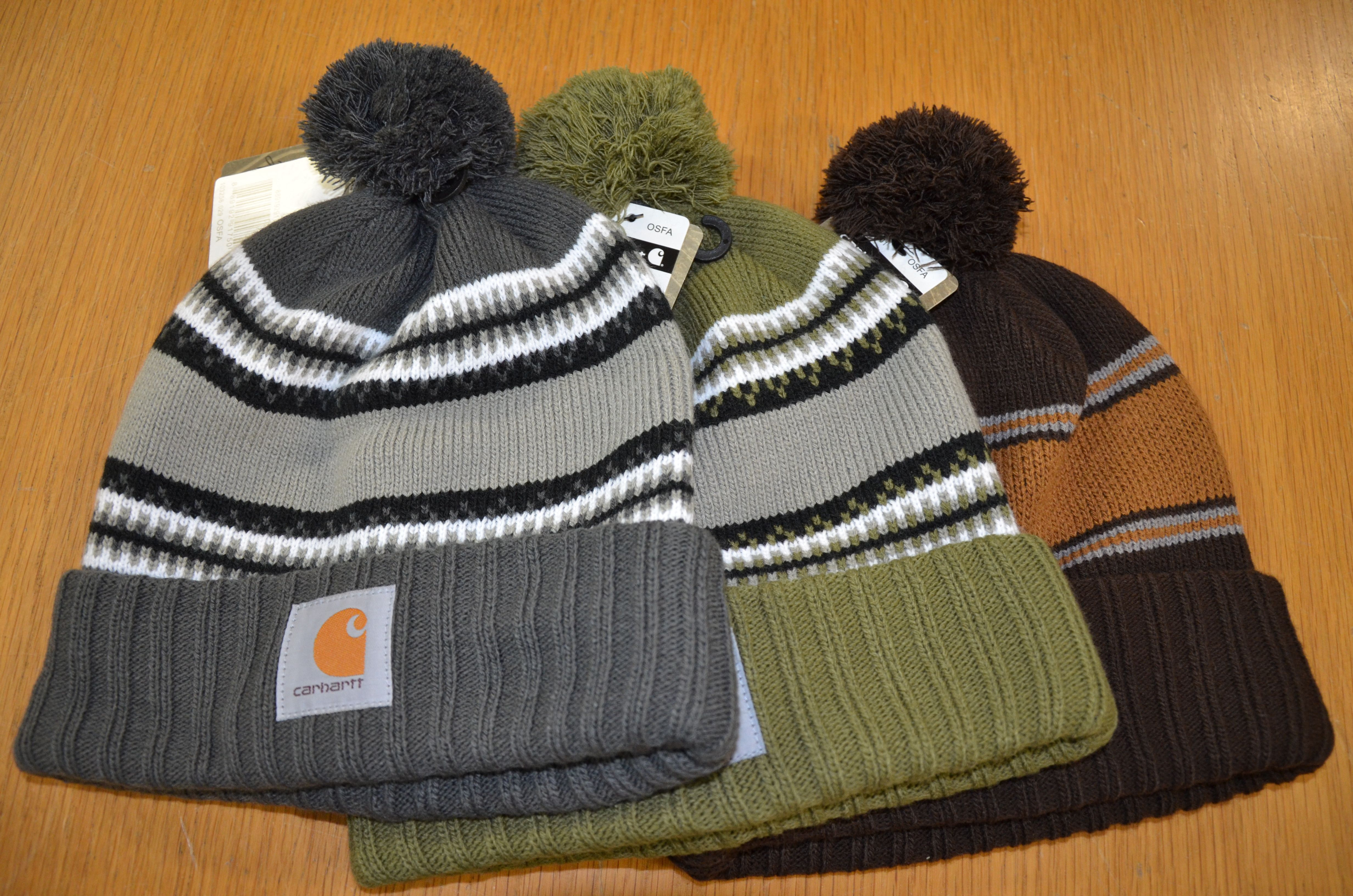 Carhartt Rexburg Hats in three colourways. Rib Knit Hat with Carhartt  label sewn on 88cbde0fc77