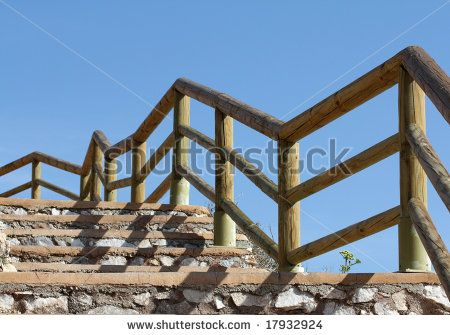 Best Walkway Some Steps With A Wooden Handrail Walkway 400 x 300