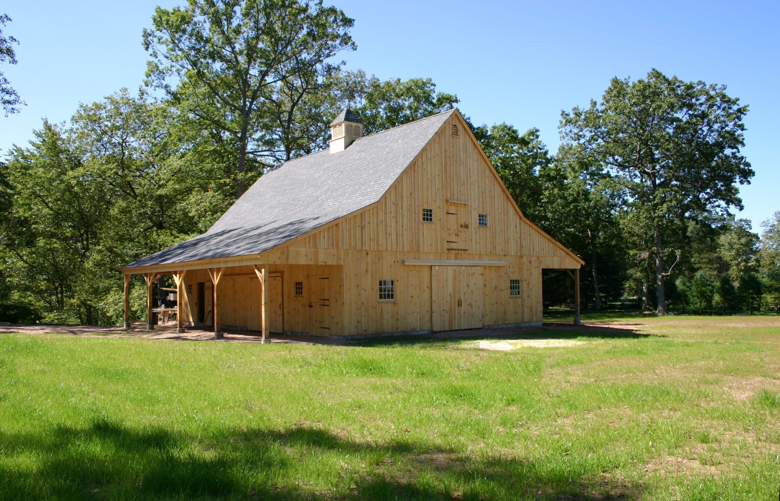 Our 36'x 48' Post & Beam Gentleman's Horse Barn With Two