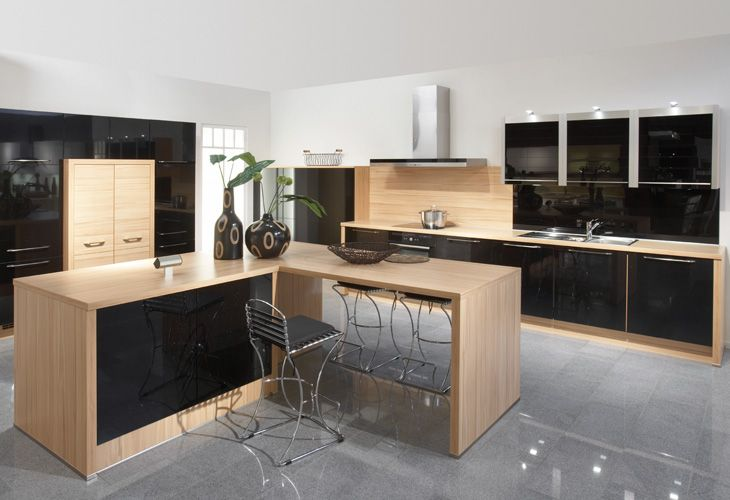 Elegant Schwarze K che von Nobilia black kitchen by Nobilia